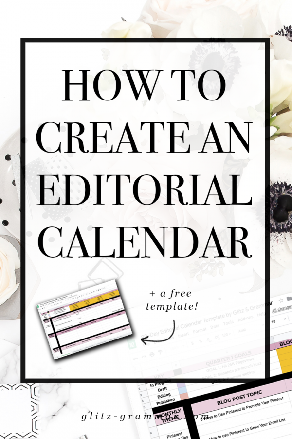 how to create an editorial calendar plus free google sheets template