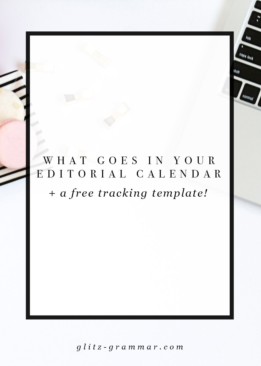 what include editorial calendar