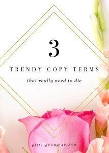 trendy copywriting terms