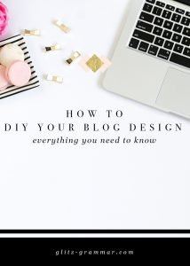 how to DIY your blog design