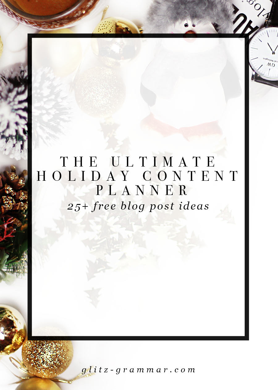 free holiday content planner