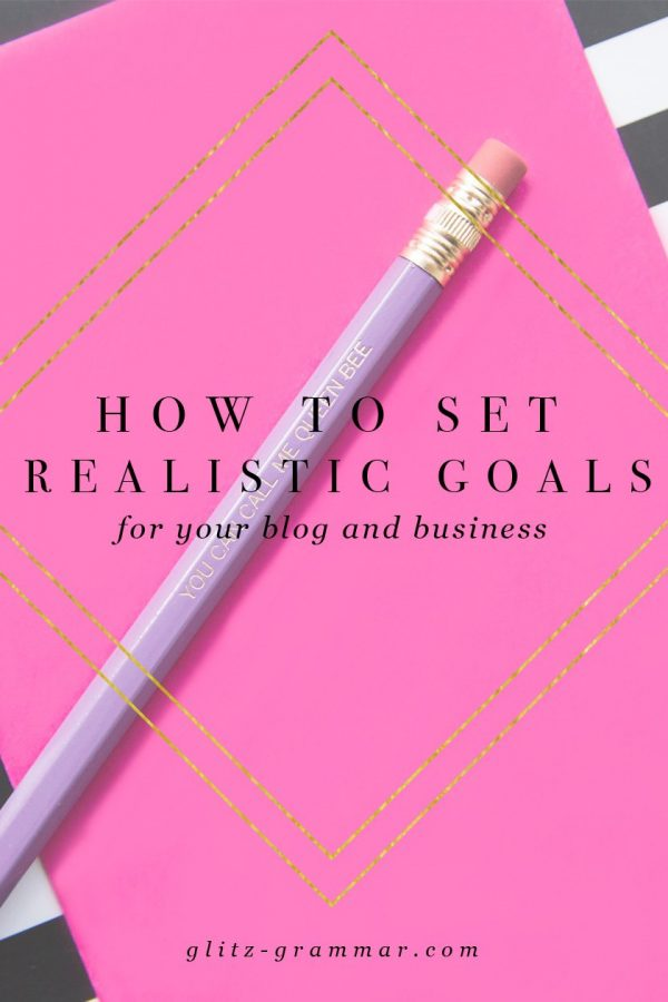 how to set realistic goals for your blog and business. The 4 goal setting tools you need to actually achieve your goals! Click to read more.