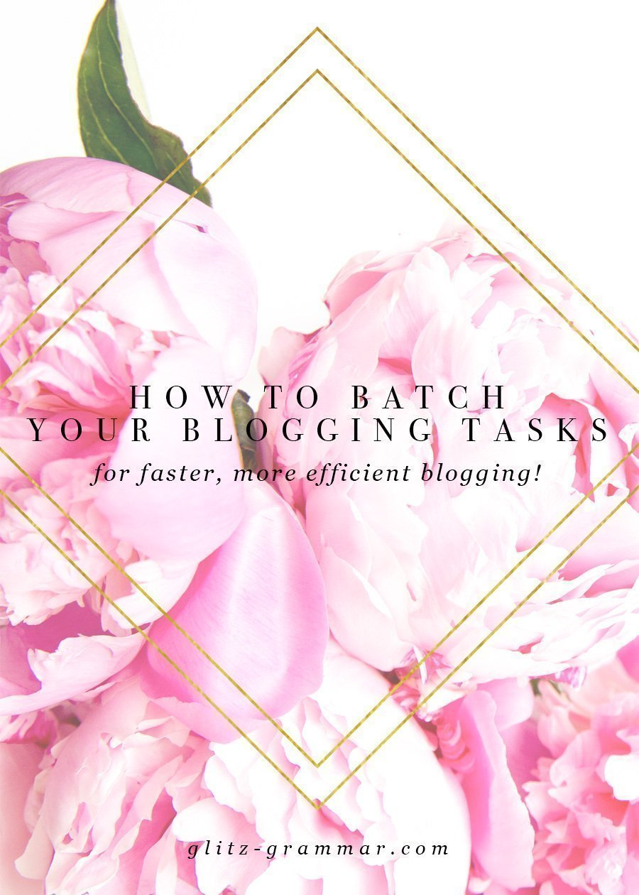 how to batch your blogging tasks for faster, more efficient blogging! Click to read all of the tips to help you blog faster