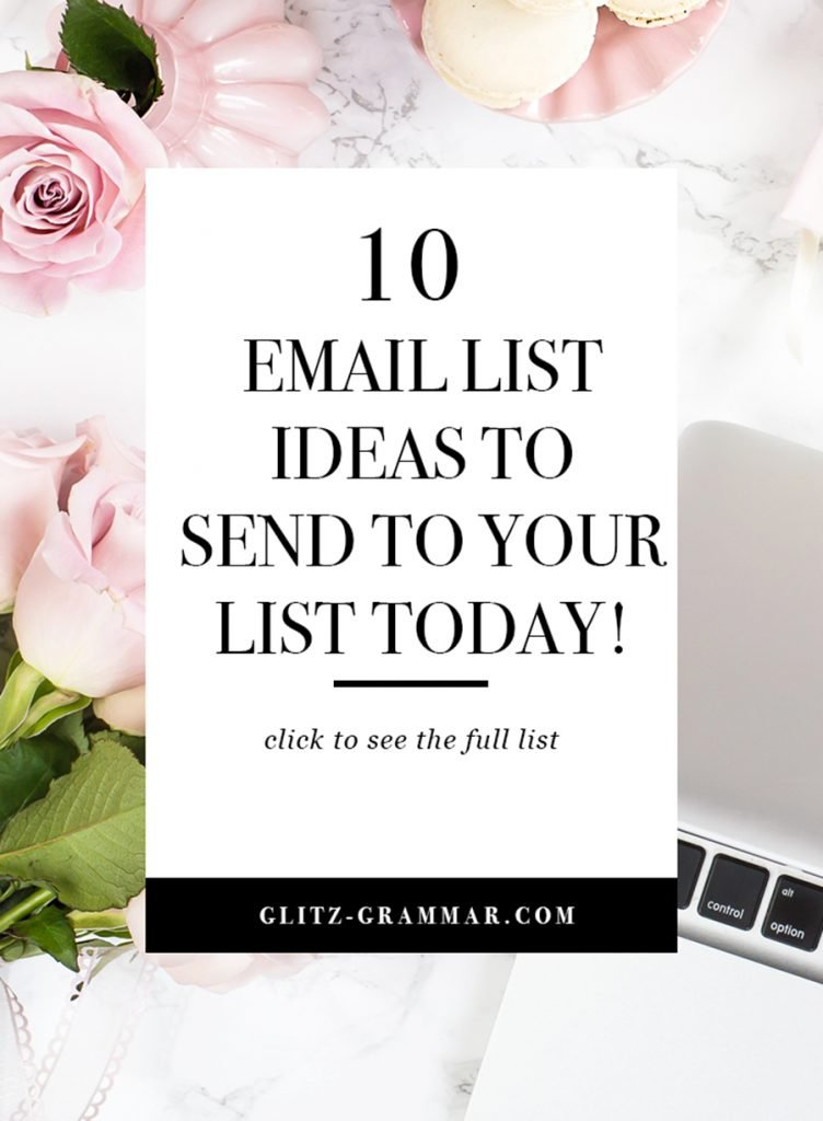 10 email list ideas to email your audience today!