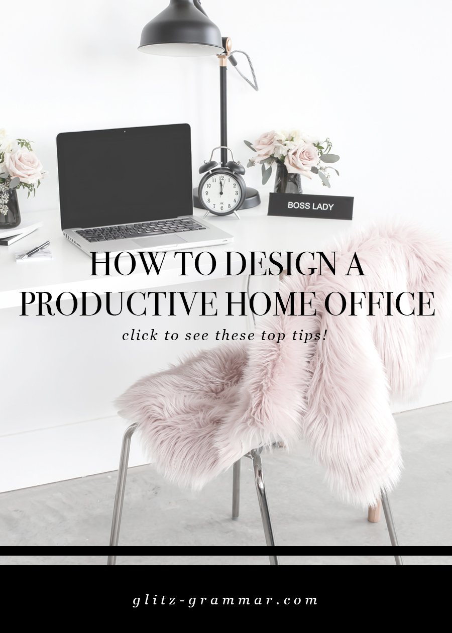 how to design a productive home office space