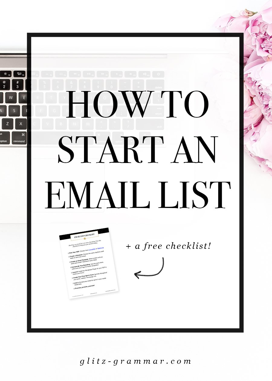 A beginner blogger's guide to starting an email list in 4 easy steps!