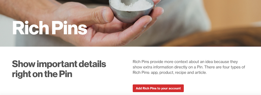Pinterest business account basics: setup rich pins on your website