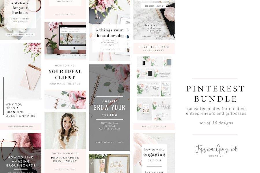 creative market pinterest templates
