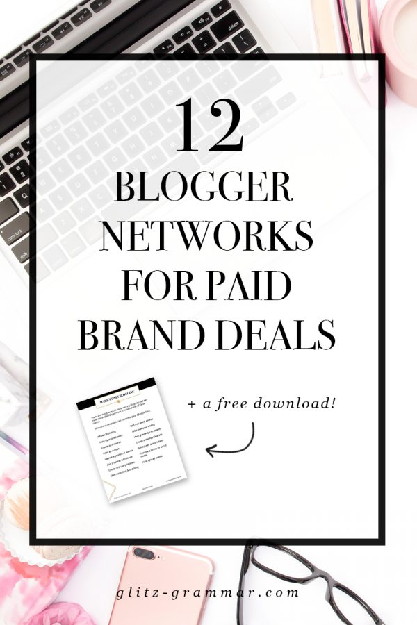 blogger networks for paid brand deals pin