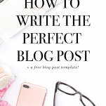 blog post template and pin