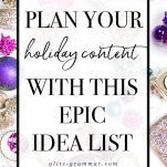 holiday content planning for bloggers