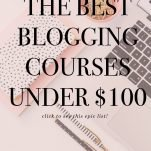 best courses for bloggers under $100