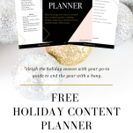 download the free holiday content planner
