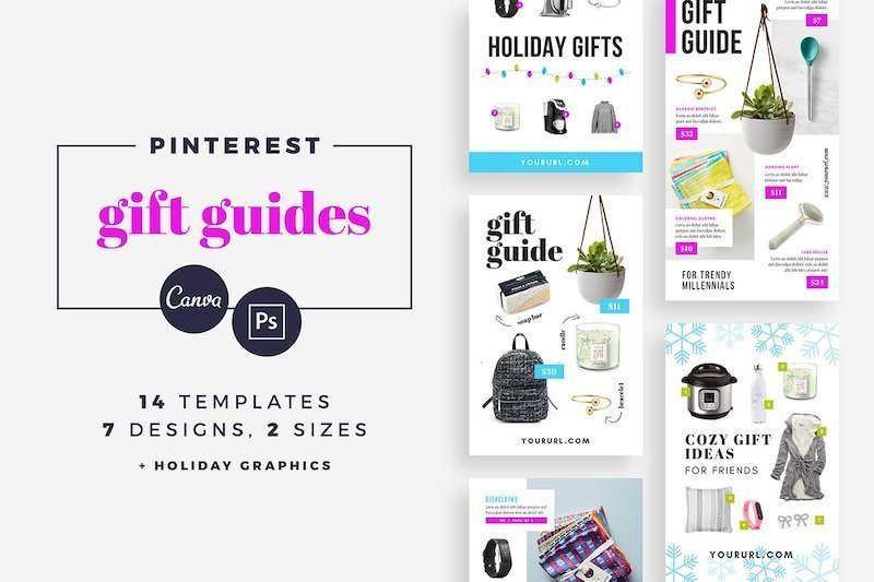Canva gift guide template