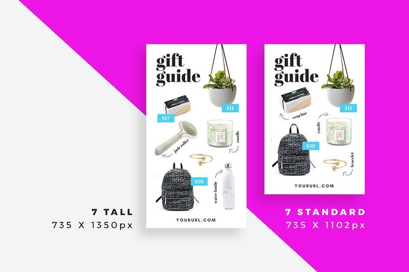 Canva holiday gift guide template