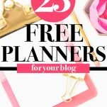 free blog planners for your blog