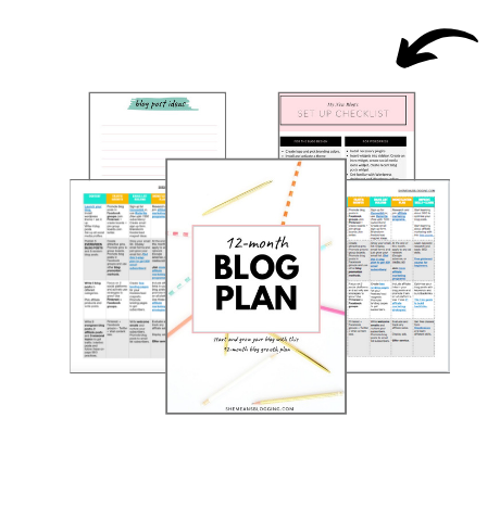 free 12 month blog planner digital and printable