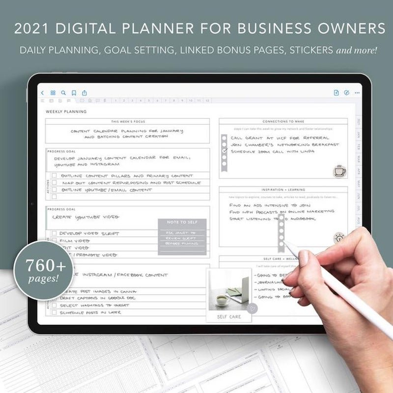 digital business planner 2021