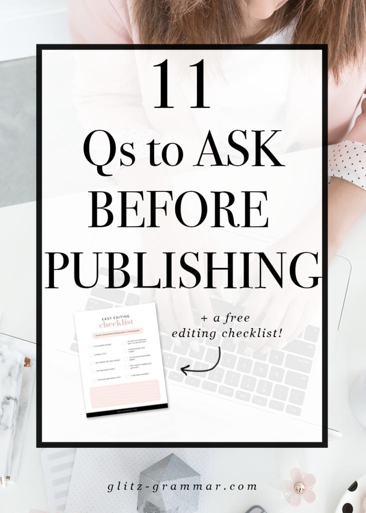 free self editing checklist